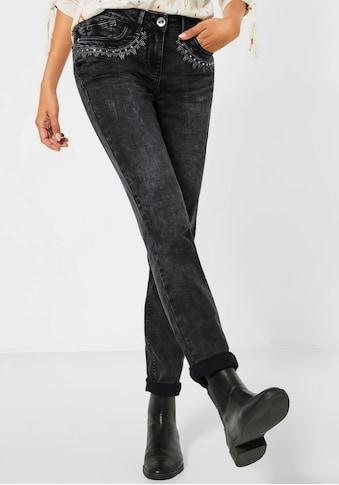 Cecil Slim-fit-Jeans »Charlize«, mit Stickereien kaufen