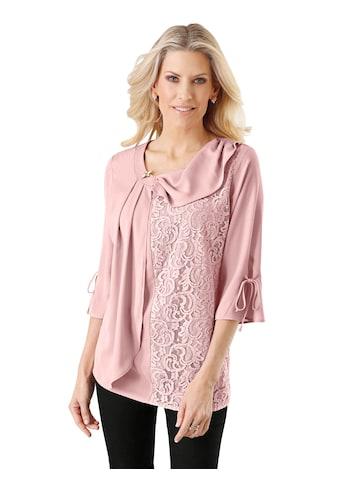 Classic Basics Bluse mit raffiniertem Ausschnitt kaufen