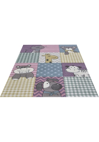 merinos Kinderteppich »Pastel Kids 21906«, rechteckig, 13 mm Höhe, lustige Tiere Motive kaufen