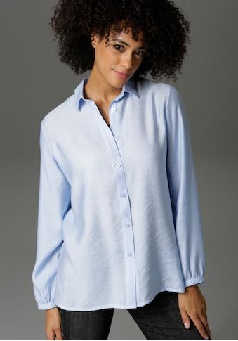 Aniston CASUAL Hemdbluse, in Leinenoptik - NEUE KOLLEKTION kaufen
