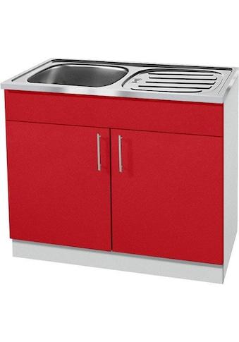 wiho Küchen Spülenschrank »Kiel«, 100 cm breit mit Auflagespüle kaufen
