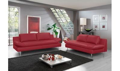 PLACES OF STYLE Polstergarnitur »Redding«, (Set, 2 tlg.), bestehend aus 2- und 3-Sitzer kaufen