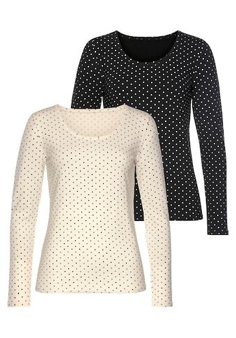 Vivance Langarmshirt, aus elastischer Baumwoll-Qualität kaufen