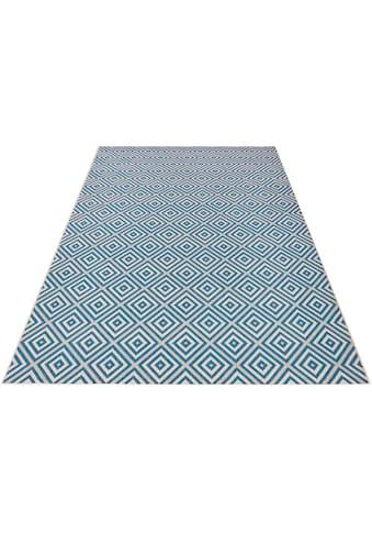 bougari Teppich »Karo«, rechteckig, 8 mm Höhe, Sisal-Optik, In- und Outdoorgeeignet, Wohnzimmer kaufen
