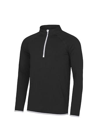 AWDIS Stehkragenpullover »Just Cool Herren Sweatshirt mit Reissverschluss bis zur Brust« kaufen