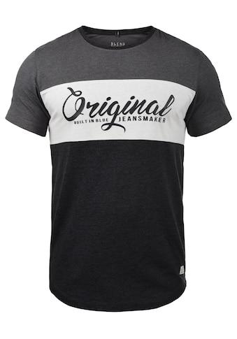 Blend Rundhalsshirt »Nero«, T-Shirt mit Streifen und Print kaufen