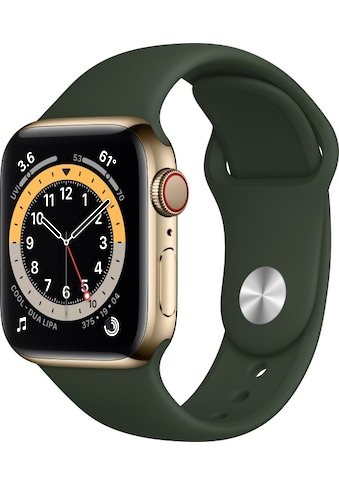 Watch Series 6 GPS + Cellular, Edelstahlgehäuse, 40 mm mit Sportarmband, Apple kaufen