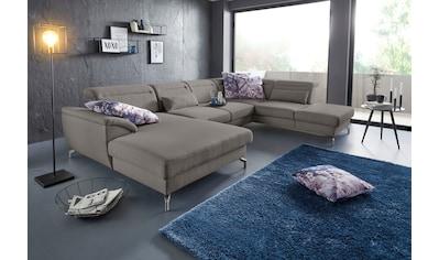 sit&more Wohnlandschaft, 12 cm Fusshöhe, inklusive Sitztiefenverstellung, wahlweise... kaufen