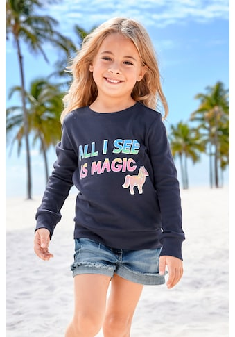 Arizona Langarmshirt »All I see is magic« kaufen
