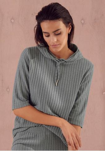 s.Oliver Kapuzensweatshirt, aus nachhaltigem Rippstrick kaufen