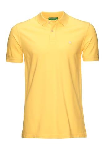 United Colors of Benetton Poloshirt, in Piqué-Qualität kaufen