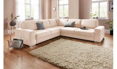 sit&more Ecksofa, mit Federkern und Sitztiefenverstellung, wahlweise mit Bettfunktion... kaufen