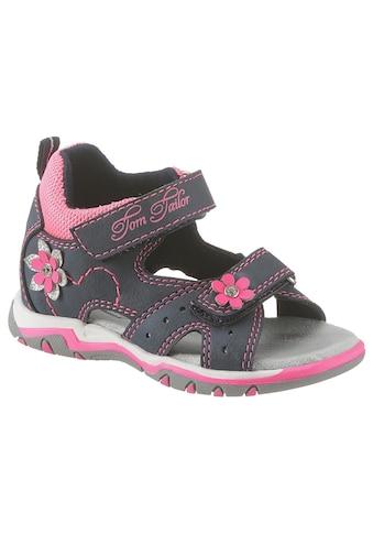 TOM TAILOR Sandale, mit süsser Blütenverzierung kaufen