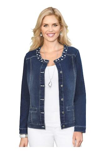 Classic Basics Jeans - Jacke mit effektvollen Glitzersteinchen kaufen
