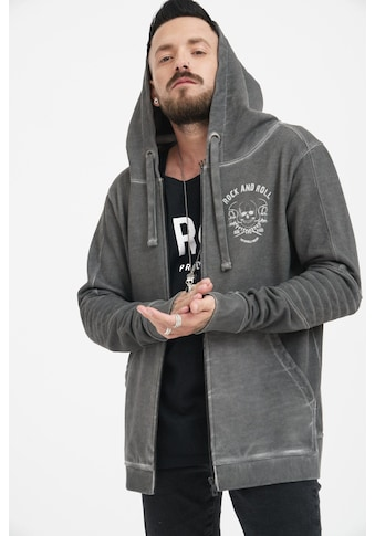 trueprodigy Sweatjacke »Skulls of rock and roll«, mit Rückenprint im Vintage Look kaufen