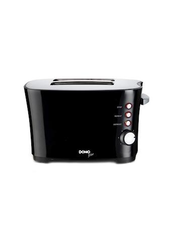 Toaster, Schwarz, Domo »DO941T« kaufen