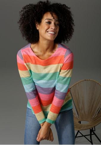 Aniston CASUAL Langarmshirt, mit farbstarken Streifen - NEUE KOLLEKTION kaufen