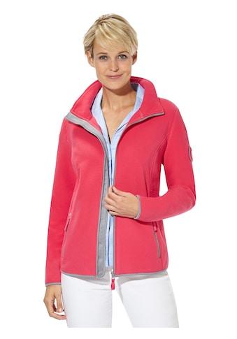 Casual Looks Fleece - Jacke mit kontrastfarbig paspelierten Abschlüssen kaufen