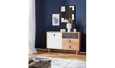 Homexperts Sideboard »Bristol«, Breite 120 cm oder 180 cm, mit massiven Eichefüssen kaufen