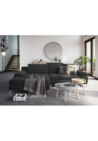 sit&more Ecksofa, mit Mega-Recamiere, wahlweise mit Bettfunktion und Bettkasten kaufen