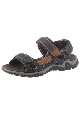 PETROLIO Sandale, mit drei Klettverschlüssen kaufen