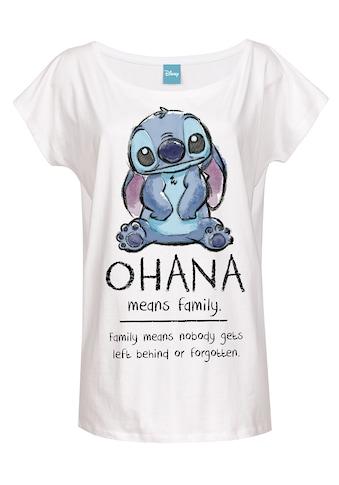 Disney T-Shirt »Lilo & Stitch Ohana Means Family« kaufen