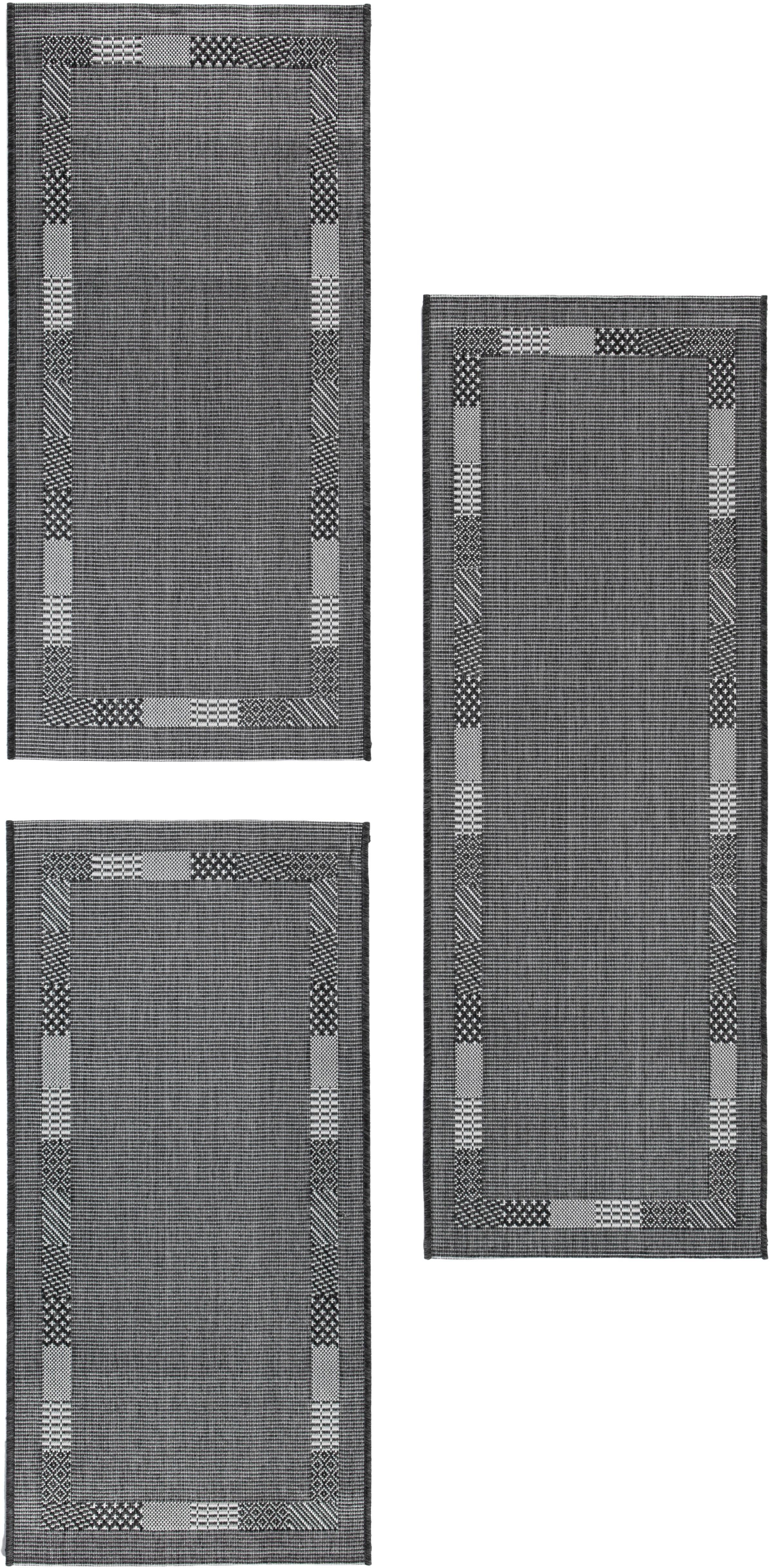 Image of Andiamo Bettumrandung »Montana«, Flachgewebe, Bettvorleger, Läufer-Set für das Schlafzimmer, gewebt