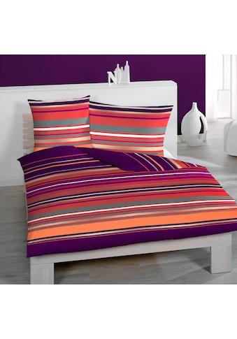Home Fashion Satin - Bettwäsche »Streifen Quer« kaufen
