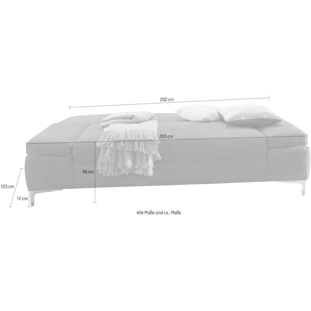 Jockenhöfer Gruppe Schlafsofa, klassisches Schlafsofa mit individuell, verstellbaren Armlehnen, Stauraum