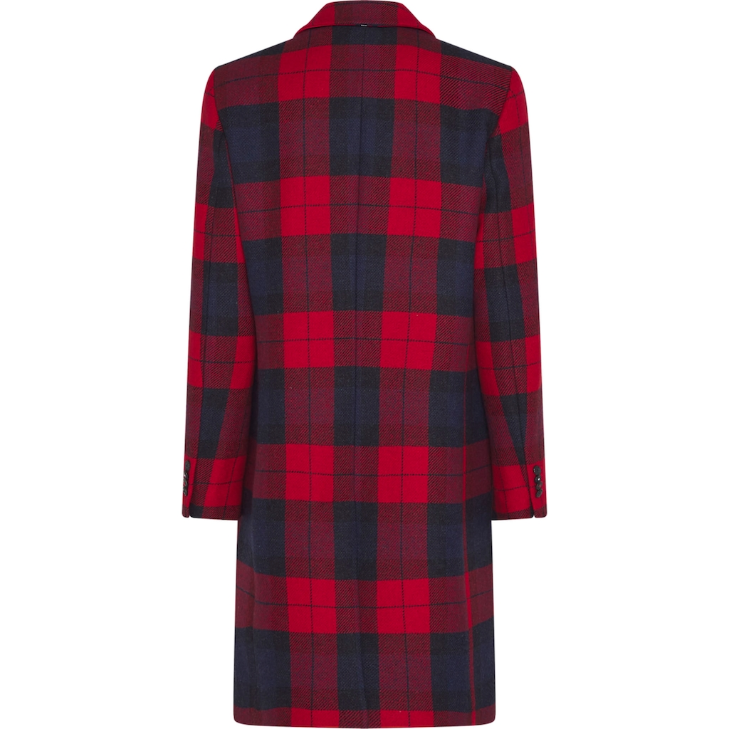 TOMMY HILFIGER Wollmantel »WO BLEND CHECK CLASSIC COAT«