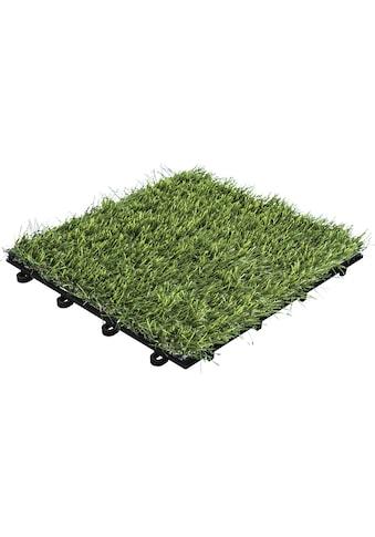 florco® Terrassenplatten »Rasen 30 x 30, 11 Stk.« kaufen