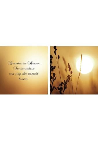 queence Leinwandbild »Sonnenschein«, (Set), 2er-Set kaufen