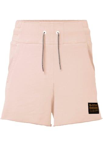 G-Star RAW Shorts »High waist sw short«, mit ausgefranster Kante am Saumabschluss kaufen