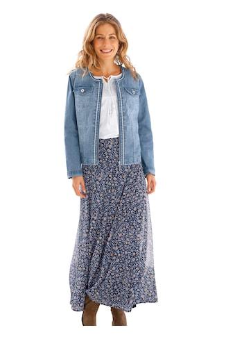 Inspirationen Jeans - Jacke mit besticktem Zierband kaufen