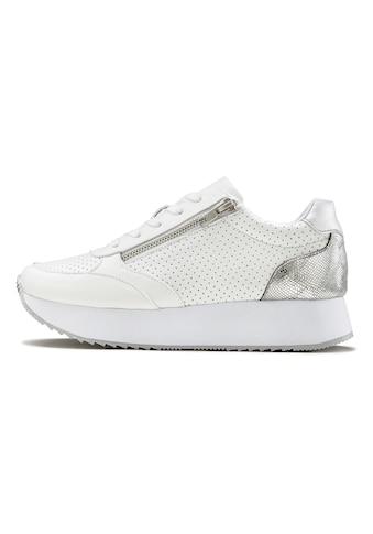 LASCANA Sneaker, Plateau mit Metallic-Einsätzen und angesagter Sohle kaufen