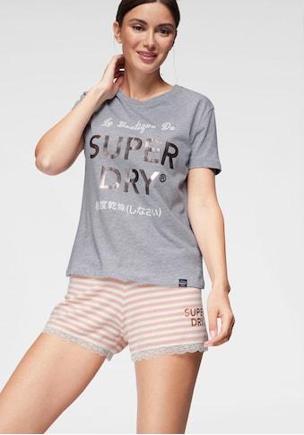Superdry Shorty »Emma Lace«, mit gestreifter Shorts kaufen
