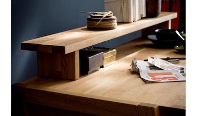 Home affaire Tischaufsatz »Dura«, aus schönem massivem Wildeichenholz, passend zum Schreibtisch mit dem Seriennamen Dura kaufen