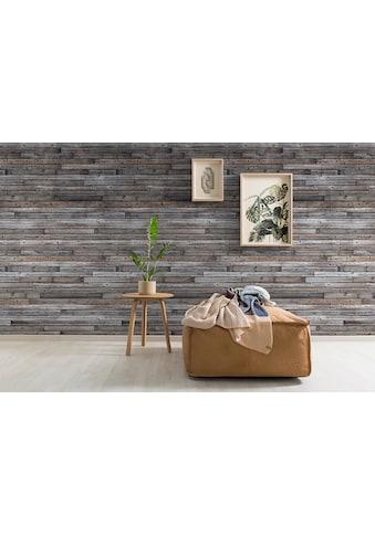 GRANDECO TAPETE Vliestapete »Holzwand - Optik«, 1 Rolle á 3 Bahnen 159 cm x 280 cm kaufen