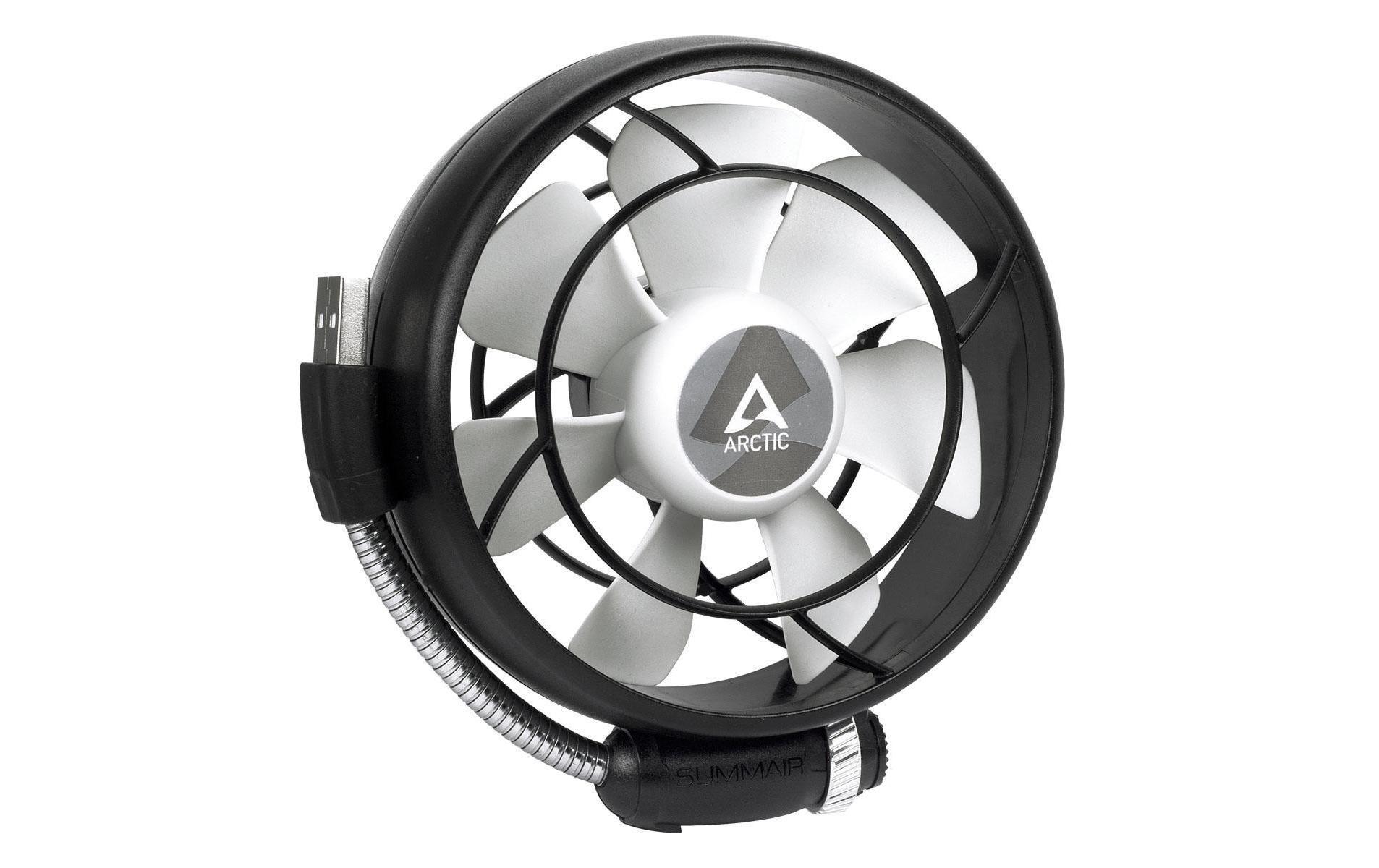 Image of USB-Ventilator, ARCTIC COOLING, »Summair Light, Schwarz, Weiss«