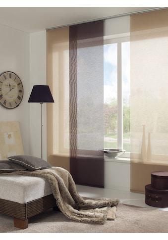 GARDINIA Schiebegardine »Flächenvorhang Entry mit silberfarbennen Paneelwagen«, HxB:... kaufen