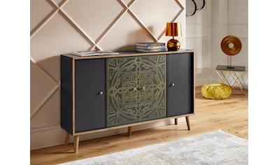 """Leonique Kommode »Clivia«, Kommode """"Clivia"""", mit dekorativem Print auf den Türen, Breite 137 cm kaufen"""