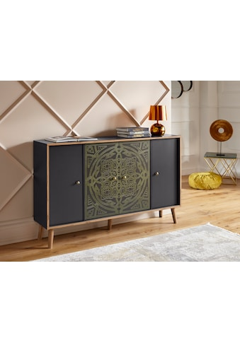 """Leonique Kommode »Clivia«, Kommode """"Clivia"""", mit dekorativem Print auf den Türen,... kaufen"""