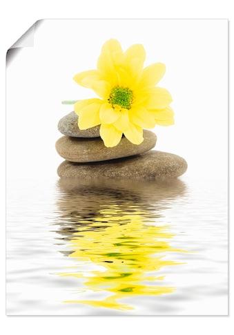 Artland Wandbild »Zen Spa Steine mit Blumen II«, Zen, (1 St.), in vielen Grössen &... kaufen