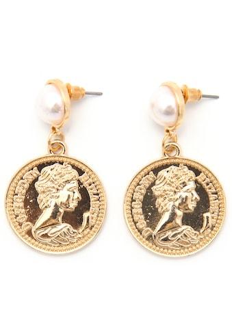 J.Jayz Paar Ohrstecker »Coins, rund, vergoldfarbenet« kaufen