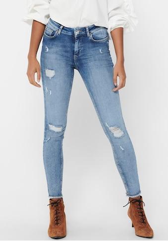 Only Skinny-fit-Jeans »ONLBLUSH LIFE«, mit grossen Destroyed Effekten kaufen