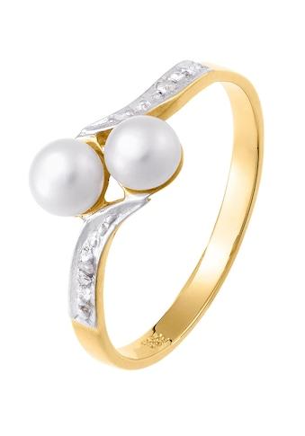 Lady Ring mit Diamanten und Süsswasserzuchtperlen kaufen