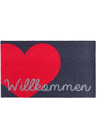 Zala Living Fussmatte »Willkommen Herz«, rechteckig, 7 mm Höhe, Schmutzfangmatte, mit... kaufen