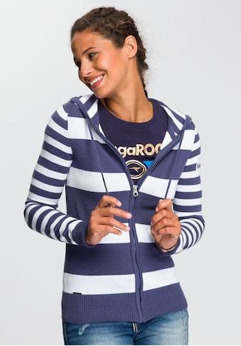 KangaROOS Kapuzenstrickjacke, in trendigem Streifendesign kaufen