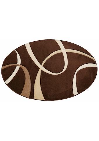 Teppich, »Bilbao«, my home, rund, Höhe 13 mm, maschinell gewebt kaufen