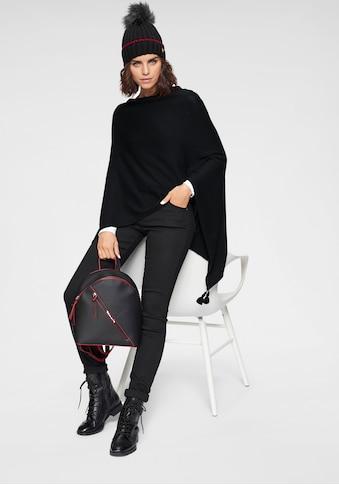 Tamaris Strickponcho, mit Quastendetails kaufen